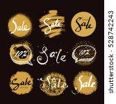 sale handwritten lettering ... | Shutterstock .eps vector #528742243