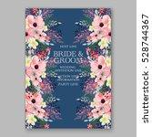 wedding invitation floral... | Shutterstock .eps vector #528744367
