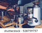 making coffee on professional... | Shutterstock . vector #528759757