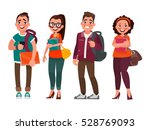 characters of students on a... | Shutterstock .eps vector #528769093