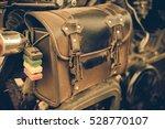 vintage studded leather bag on... | Shutterstock . vector #528770107