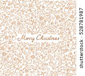 christmas icons seamless... | Shutterstock .eps vector #528781987