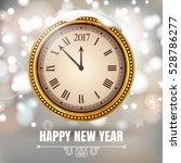illustration new year midnight... | Shutterstock .eps vector #528786277