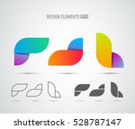 vector abstract logo design... | Shutterstock .eps vector #528787147