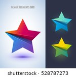 set of abstract star sign...   Shutterstock .eps vector #528787273