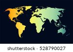world map gradian vector | Shutterstock .eps vector #528790027
