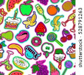 colorful funny seamless pattern ... | Shutterstock .eps vector #528791263