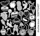 black and white fun set of... | Shutterstock .eps vector #528791407
