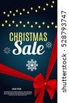 christmas sale banner... | Shutterstock . vector #528793747