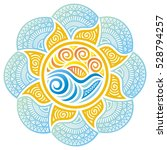 beautiful nature decorative... | Shutterstock .eps vector #528794257