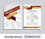brochure design layout with... | Shutterstock .eps vector #528802933