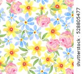 floral seamless pattern with... | Shutterstock . vector #528805477