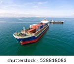 container container ship in... | Shutterstock . vector #528818083