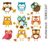 Stock vector pattern owl 528821167