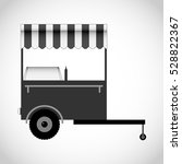 mobile trolley fast food  fast... | Shutterstock .eps vector #528822367