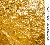 shiny yellow gold foil abstract ... | Shutterstock .eps vector #528823933