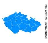 blue map of czech republic | Shutterstock .eps vector #528825703