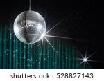 party disco ball with stars in... | Shutterstock . vector #528827143