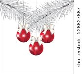 Red Christmas Balls On The...
