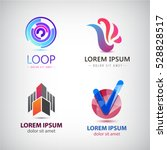 vector set of abstract logos ... | Shutterstock .eps vector #528828517