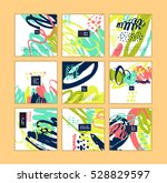 set of artistic creative cards... | Shutterstock .eps vector #528829597