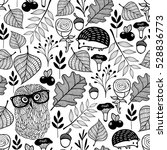 Seamless Pattern With Forest...