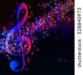 vector music equalizer waves... | Shutterstock .eps vector #528840973