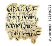 alphabet poster  dry brush ink...   Shutterstock .eps vector #528846733