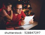 father and daughter together... | Shutterstock . vector #528847297