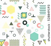trendy geometric elements... | Shutterstock .eps vector #528849193