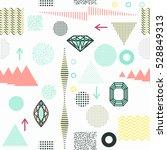 trendy geometric elements... | Shutterstock .eps vector #528849313
