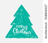 hand drawn christmas tree with... | Shutterstock .eps vector #528856027