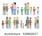 the family   grandfather ... | Shutterstock .eps vector #528860017