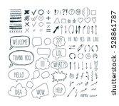 big set of sketch arrows ...   Shutterstock .eps vector #528861787