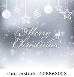 merry christmas on snow... | Shutterstock .eps vector #528863053