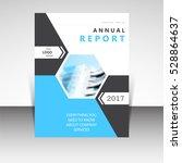 business annual report brochure ... | Shutterstock .eps vector #528864637