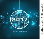 Happy New Year 2017 Text Desig...