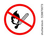 no flame sign.   Shutterstock .eps vector #528870073