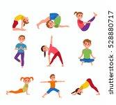 cute cartoon gymnastics for... | Shutterstock .eps vector #528880717