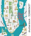 illustrated map of new york... | Shutterstock .eps vector #528883657