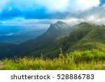the mountain in the morning... | Shutterstock . vector #528886783