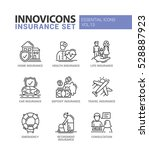 types of insurance   modern... | Shutterstock .eps vector #528887923