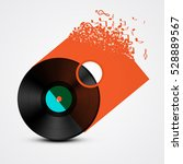 vinyl record lp with... | Shutterstock .eps vector #528889567