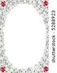 oval border of white rose | Shutterstock . vector #5288923