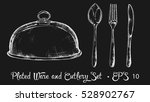 plated ware and cutlery set... | Shutterstock .eps vector #528902767