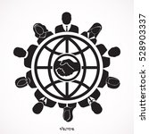 round table meeting  handshake | Shutterstock .eps vector #528903337