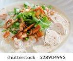 closeup clear vietnamese noodle ...   Shutterstock . vector #528904993
