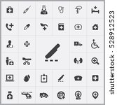 scalpel icon. doctor icons... | Shutterstock . vector #528912523