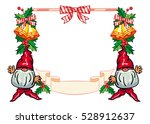 holiday frame with decorations... | Shutterstock .eps vector #528912637
