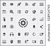 digital marketing icons... | Shutterstock . vector #528914743